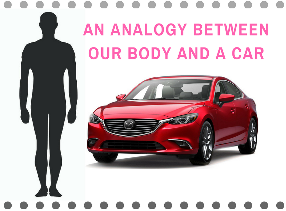 AN ANALOGY BETWEEN OUR BODY AND A CAR