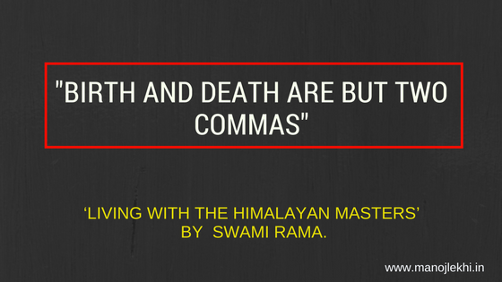 Birth and Death Are But Two Commas