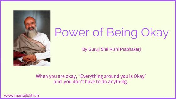 Power of Being Okay