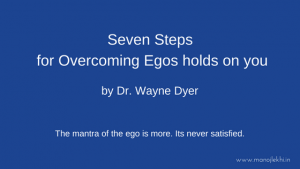 The mantra of the ego is more Its never satisfied