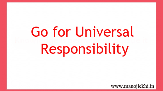 Go for Universal Responsibility